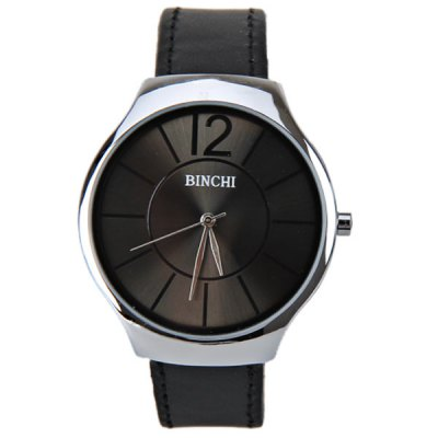 binchi-quartz-watch-with-number-strips-indicate-real-leather-watch-band-ip-plating-for-men