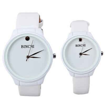 Гаджет   BINCHI Swiss IP Plating Watch with Round Dial and Genuine Leather Band