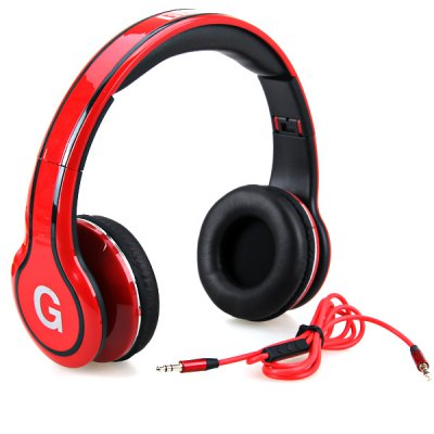 GNP-8805 Portable Folding Design Super Bass Answering Phone Function Supported On-Ear Headphone Headset with In-Line Mic