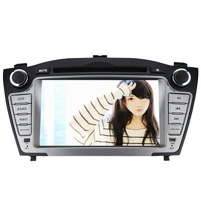 J-8635MX 7-Inch Touch Screen 1080P Video Resolution WiFi and IPOD Functions Supported Car GPS DVD Player for Hyundai-IX35Car DVD Player<br>J-8635MX 7-Inch Touch Screen 1080P Video Resolution WiFi and IPOD Functions Supported Car GPS DVD Player for Hyundai-IX35<br><br>Model: J-8635MX<br>Apply to Car Brand : Hyundai-IX35<br>Screen Type: Digital touch screen<br>Screen Size : 7inch<br>Screen Resolution : 800 x 480<br>CPU Chips: MTK3360<br>CPU Main Freq.: 800MHz<br>RAM (memory): DDR2 256M<br>FLASH (internal storage): 128M<br>Radio Chips: SI4730<br>Built-in Amplifier: ST (semiconductor) TDA7388<br>DVD Bald: HOP-1200XH (hitachi)<br>GPS Port: COM 2<br>Baud Rate: 9600<br>AM/FM Radio: FM store 18stations, AM store 12 stations, support RDS function<br>DVD Video Format: MPG, DAT, MKV, AVI, VOB, MP4, MPEG<br>USB/SD Video Format: MKV, RMVB, DAT, RM, ASF, MP4, VOB, AVI, MOV, FLV, MPG<br>DVD Audio Format: OGG, MP3, WMA<br>USB/SD Audio Format: FLAC, APE, OGG, MP3, WAV, RA<br>Picture Format: JPEG<br>USB/SD Picture Format: BMP, PNG, JPEG<br>Media Format : Mp4, Mp3, Video CD, DVD-RAM, JPEG, DVD-R/RW, WMA, CD<br>GPS Language: Russian, German, English, Portuguese, Chinese, French, Spanish, etc, Japanse, Italian<br>GPS Navigation: Support series of GPS software<br>IPOD Function: Support audio playing<br>Network : WiFi Dongle<br>OSD Language: Chinese, Spanish, Swedish, Japanse, Portuguese, Hebrew, Russian, French, Italian, Arabic, Slovak, Czech, English, Turkish, German<br>Power Supply: 4 x 50W<br>Product weight   : 2.02 kg<br>Package weight   : 2.57 kg<br>Package size (L x W x H)  : 23 x 32 x 19.5 cm<br>Package Contents: 1 x Car DVD Player