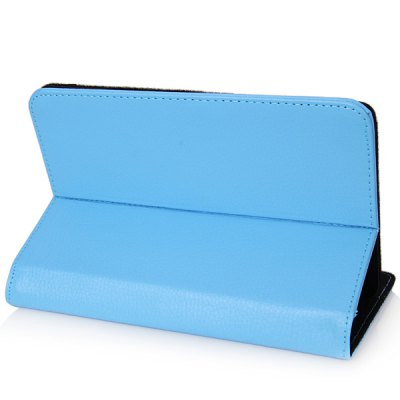 Фотография Fashionable Stand Function and 360 Degree Rotatable Button Design Artificial Leather Case for 7 inch Tablet