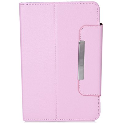 ФОТО Fashionable Stand Function and 360 Degree Rotatable Button Design Artificial Leather Case for 7 inch Tablet