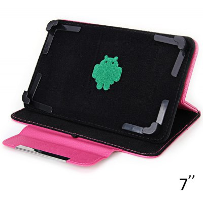 Rotatable PU Leather Case for 7 inch Tablet PC