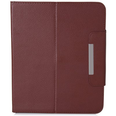 ФОТО Fashionable Stand Function and 360 Degree Rotatable Button Design Artificial Leather Case for 9.7 inch Tablet