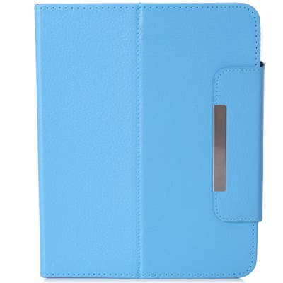 ФОТО Fashionable Stand Function and 360 Degree Rotatable Button Design Artificial Leather Case for 8 inch Tablet