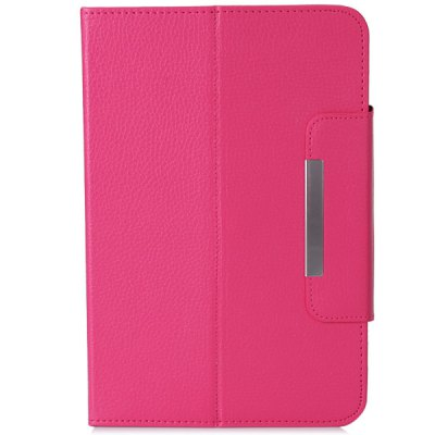 ФОТО Fashionable Stand Function and 360 Degree Rotatable Button Design Artificial Leather Case for 9 inch Tablet
