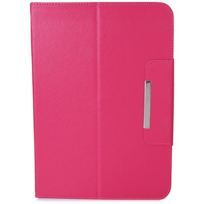 ФОТО Fashionable Stand Function and 360 Degree Rotatable Button Design Artificial Leather Case for 10 inch Tablet