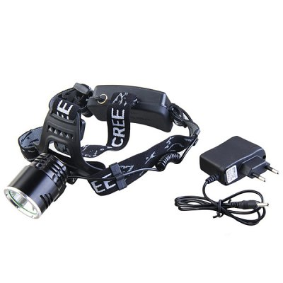 A2 Cree XM - L2 3 - Mode 1100lm White Light 18650 LED Headlamp  -  CE Certification