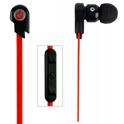 Syllable G02I Dynamic Headset  for iPhone Noodle Shaped Wire Noise Cancelling In-ear Earphonewith Microphone