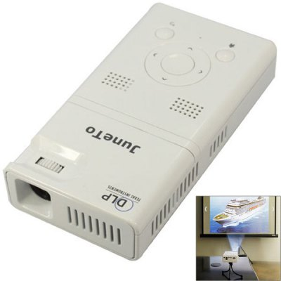 LZ - H100 Android 4.1 DLP 90lm Mini Size Pocket Digital LED White Projector with 4GB/Bluetooth