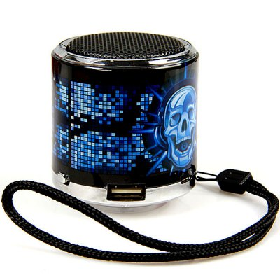 Z-18 Skull Appearence Mini Music Speaker Compatible With MP3 Player/PC