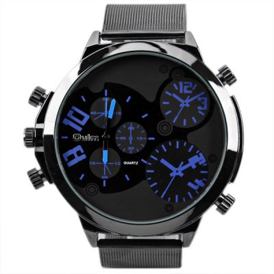 Гаджет   Oulm Unique Design Watch with Five Small Decorating Hands and Steel Band Men