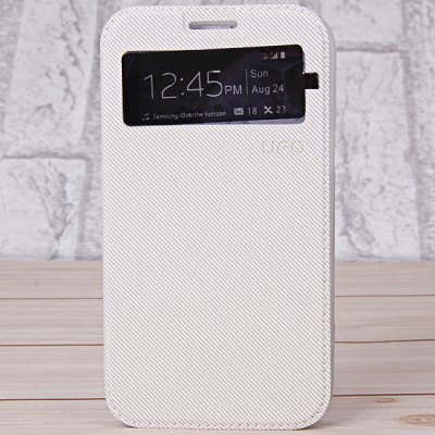 UFO Phone Call View Window Pattern Artificial Leather and TPU Case with Stand Function for Samsung Galaxy Note 2 N7100