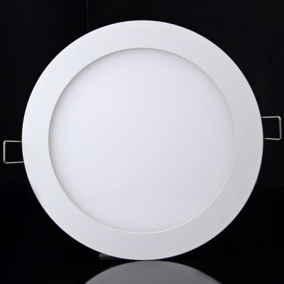 16W 1600-1650 Lumens White Light Circular Ceiling Lamp - 85-265V