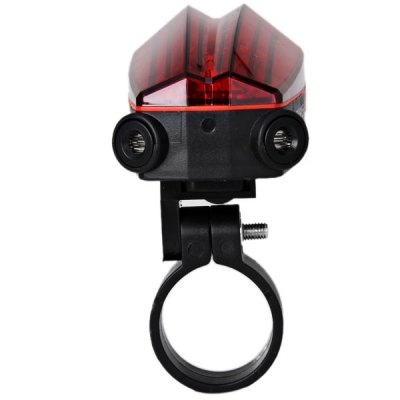 5-LED 2 Laser Bulbs Bicycle/Bike Laser Tail Light Lane for Safety Night Cycling