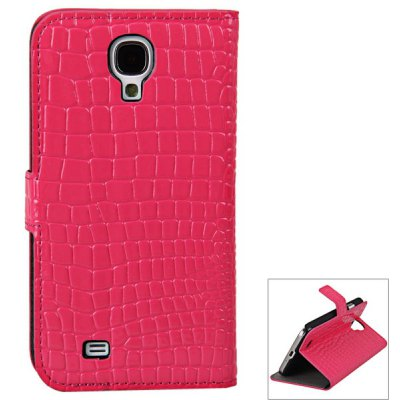Crocodile Veins Pattern PU + PC Stand Case for Samsung Galaxy S4 i9500 / i9505