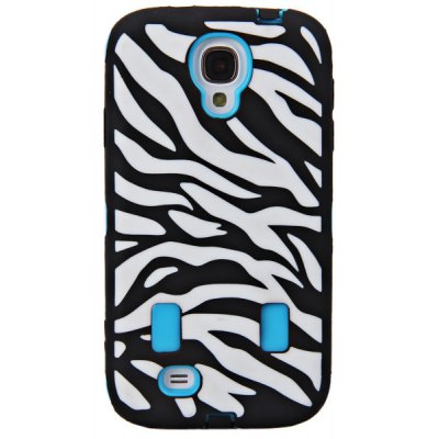 Zebra Veins Silicone and Plastic Case for Samsung Galaxy S4 i9500