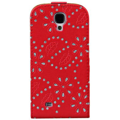 Flower and Leaves Pattern Cover Case for Samsung Galaxy S4 i9500 / i9505