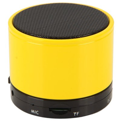 S10 Fashionable Mini Wireless Portable Bluetooth Speaker Built-in Lithium Battery for iPhone 6S / 6S Plus / iPad ProSpeakers<br>S10 Fashionable Mini Wireless Portable Bluetooth Speaker Built-in Lithium Battery for iPhone 6S / 6S Plus / iPad Pro<br><br>Model: SK-S10<br>Design: Portable, Fun, Mini, Multifunctional<br>Features: Wireless Bluetooth, Cylinder Shaped, Built-in Lithium Battery<br>Supports: Bluetooth, Volume Control, TF Card Music Playing<br>Functions: AUX Function, Stereo<br>Compatible With: Tablet PC, PC, TF/Micro SD Card, iPod, MP3, iPhone, MP4, PSP, MP5, Laptop, Mobile Phone<br>Connection: Wireless<br>Interface: 3.5mm Audio, Power Charge Port, TF Card Slot<br>Audio Source: TF/Micro SD Card, Electronic Products with 3.5mm Plug, Bluetooth Enabled Devices<br>Material: Metal, Plastic<br>Color: White, Blue, Yellow, Black, Orange, Green, Pink, Purple, Red<br>Power Output: 3 W<br>Freq: 280Hz-16KHz<br>S/N: 95dB<br>Power Source: USB<br>Charging Voltage: 5 V<br>Input: DC 5V 500mA<br>Charging Time: 2 hours<br>Lasting Time: 5 hours<br>Battery Capacity: 520 mAh<br>Product Weight: 0.230 kg<br>Package Weight: 0.297 kg<br>Product Size (L x W x H): 6.0 x 6.0 x 5.0 cm<br>Package Size (L x W x H): 7.0 x 7.0 x 8.0 cm<br>Package Contents: 1 x Speaker, 1 x 2-in-1 Cable, 1 x English User Manual