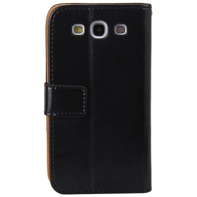 Artificial Leather and Plastic Flip Wallet Stand and Card Slot Case Cover for Samsung Galaxy S3 i9300