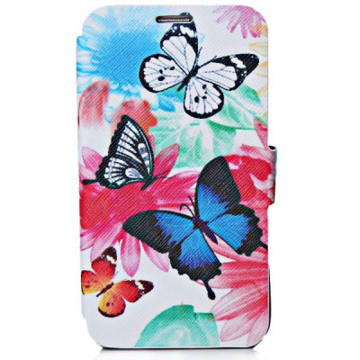 Butterfly Style PU Leather with TPU Material Stand Case with Card Holder for Samsung Galaxy Note 3 N9000 , N9005 , N9006