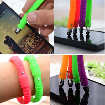 New Silicone Bracelet Touch Stylus Pen for iPhone 4 / 4S iPhone 5 / 5S Samsung S6 HTC ONE M9