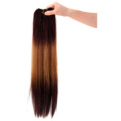 14 Inch Popular Light Yellow and Dark Brown Straight Hair Haircut Hair Extension