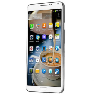 5.7 inch 3G Phablet Android 4.2 MTK6589T Quad Core 1.5GHz 1GB 8GB HD Screen Gesture Sensing OTG NFC GPS Remote 13.0MP CameraCell phones<br>5.7 inch 3G Phablet Android 4.2 MTK6589T Quad Core 1.5GHz 1GB 8GB HD Screen Gesture Sensing OTG NFC GPS Remote 13.0MP Camera<br><br>Brand: NO.1<br>Type: Phablet<br>OS: Android 4.2<br>Language: Dutch, French, Portuguese, Spanish, Russian, German, Italian, English<br>Notice: If you need any specific language other than English and you must leave us a message when you checkout<br>SIM Card Slot: Dual SIM<br>CPU: MTK6589T<br>Cores: 1.5GHz, Cortex-A7, Quad Core<br>GPU: PowerVR SGX 544<br>RAM: 1GB RAM<br>ROM: 8GB<br>External memory: TF card up to 32GB (not included)<br>WiFi: 802.11b/g/n wireless internet<br>Network type: GSM+WCDMA<br>2G: GSM 850/900/1800/1900MHz<br>3G: WCDMA 850/2100MHz<br>Support 3G : Yes<br>GPS: Yes<br>Bluetooth: Yes<br>Screen type: Capacitive, IPS<br>Screen size: 5.7inch<br>Screen resolution: 1280 x 720 (HD 720)<br>Camera type: Dual cameras (one front one back)<br>Back camera: with flash light and AF, 13.0MP<br>Front camera: 5.0 MP<br>Video recording: Yes<br>Picture format: JPEG, GIF, BMP, PNG<br>Music format: AAC, MP3, WAV<br>Video format: AVI, 3GP, MP4<br>MS Office format: Word, Excel, PPT<br>E-book format: TXT<br>Games: Android APK<br>TF Card Slot: Yes<br>Micro USB Slot: Yes<br>Audio Out Port : Yes (3.5mm audio out port)<br>Microphone: Supported<br>Speaker: Supported<br>Additional Features: OTG, 3G, MMS, GPS, Calculator, Wi-Fi, Sound Recorder, E-book, Gesture Sensing, Video Call, Calendar, MP3, Bluetooth, Gravity Sensing, Alarm, MP4, Java, People, WAP, Light Sensing, Browser<br>Battery Capacity (mAh): 1 x 2800mAh Battery<br>Cell Phone: 1<br>Capacitive Stylus: 1<br>Power Adapter: 1<br>USB Cable: 1<br>English Manual : 1<br>Product size: 150 x 80 x 8 mm<br>Package size: 159 x 89 x 56 mm<br>Product weight: 0.129 kg<br>Package weight: 0.6 kg