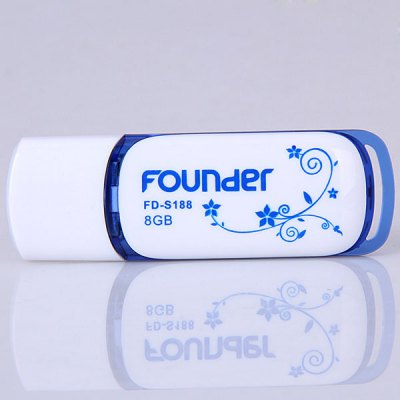 Founder FD - S188 8GB High Speed Blue and White Porcelain Design Portable USB 2.0 Flash MemoryUSB Flash Drives<br>Founder FD - S188 8GB High Speed Blue and White Porcelain Design Portable USB 2.0 Flash Memory<br><br>Capacity: 8G<br>Type: USB Stick<br>Features: Blue and White Porcelain<br>Available Color: Blue, White<br>Style: Classic<br>Interface: USB 2.0<br>Product Weight: 0.008 kg<br>Package Weight: 0.099 kg<br>Product Size (L x W x H): 6.0 x 2.0 x 0.6 cm<br>Package Size (L x W x H): 12.5 x 11.0 x 3.0 cm<br>Package Contents: 1 x USB Flash Memory