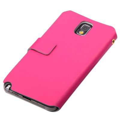 ФОТО PU Leather and Plastic Material Cover Case with Unique Stand Design for Samsung Galaxy Note 3 N9000 / N9002 / N9006 / N9008
