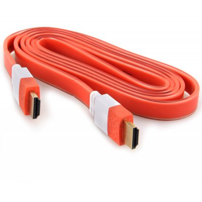 1.5m M to M Flat HDMI Cable with Transparent Outer Layer for Bluray/3D/DVD/PS3/HDTV/XBOX