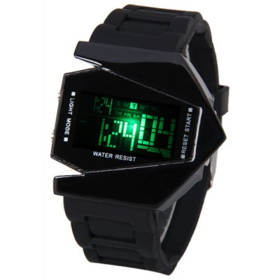 Bomber Aircraft Shape LED Watch with Special Dial and Rubber Band