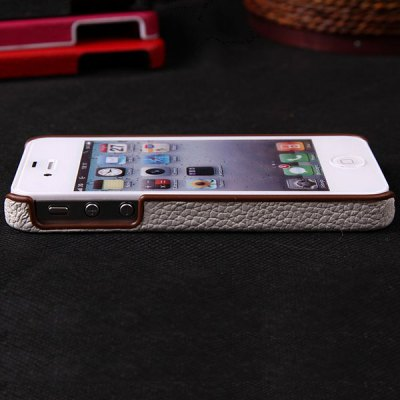 Гаджет   Compact Pattern Soft Genuine Leather and Plastic Cover Case for iPhone 4 / 4S iPhone Cases/Covers
