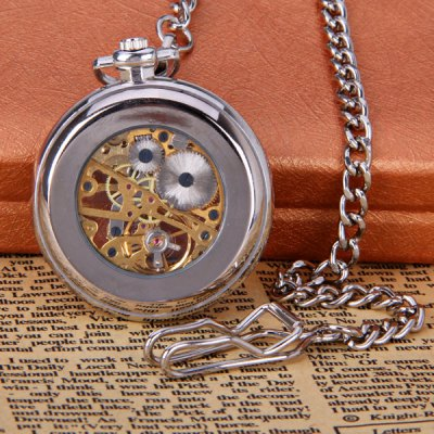Vintage Style Mechanical Pocket Watch with Flip Dial DesignMechanical Watches<br>Vintage Style Mechanical Pocket Watch with Flip Dial Design<br><br>Watches categories: Pocket watch<br>Watch style: Restore ancient ways classic<br>Style elements: Restore Ancient ways<br>Available Color: Silver<br>Movement type: Mechanical watch<br>Shape of the dial: Circular<br>Display type: Pointer<br>Case material: Stainless steel<br>Band material: Steel<br>The dial thickness: 0.9 cm<br>The dial diameter: 4.3 cm<br>Product weight: 0.060 kg<br>Product size (L x W x H) : 44.0 x 4.3 x 0.9 cm<br>Package contents: 1 x Pocket Watch