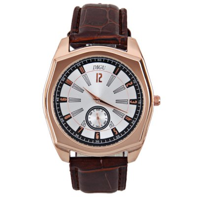 Japan Movt Quartz 12 Numbers Indicate Round Dial Watch with Leather Watchband for MenMens Watches<br>Japan Movt Quartz 12 Numbers Indicate Round Dial Watch with Leather Watchband for Men<br><br>Watches categories: Male table<br>Movement type: Quartz watch<br>Shape of the dial: Round<br>Display type: Pointer<br>Band material: Genuine leather<br>Clasp type: Pin buckle<br>Special features: Moving small one stitch<br>The dial thickness: 1.0 cm<br>The dial diameter: 4.2 cm<br>Product weight: 55 g<br>Product size (L x W x H): 25.2 x 4.2 x 1.0 cm<br>Package Contents: 1 x Watch