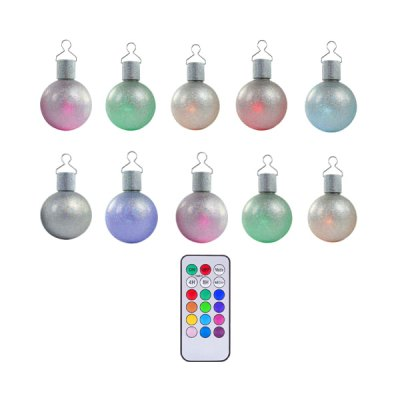 CIS-57363 RGB Remote Control Christmas Balls - 10PcsOutdoor Lights<br>CIS-57363 RGB Remote Control Christmas Balls - 10Pcs<br><br>Powered source: Battery, Solar<br>Light type: Solar Light<br>Light color: Colorful<br>Features: Sensor, Waterproof<br>Package weight: 0.3 kg<br>Product size (L x W x H): 8 x 8 x 8 cm<br>Package size (L x W x H): 32 x 21 x 8.5 cm<br>Package Contents: 10 x RGB Christmas Ball