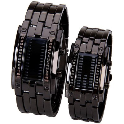 Valentine Couple Watch with Blue LED