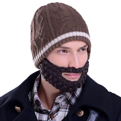 Гаджет   Popular Woolen Material Funny Hat with Removable False Beard Mask Hats and Scarfs