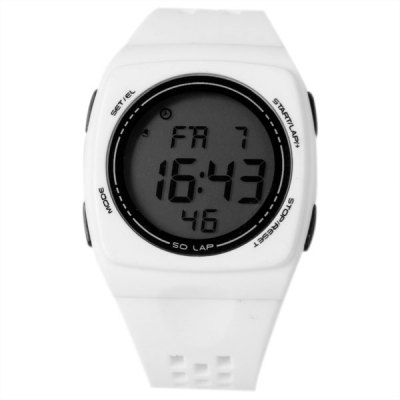 Waterproof Rubber Band Green LED Watch with Number Hour Marks Rectangle ShapedWatches &amp; Jewelry<br>Waterproof Rubber Band Green LED Watch with Number Hour Marks Rectangle Shaped<br><br>Brand: SHORS<br>People: Unisex table<br>Style: Fashion&amp;Casual<br>Watches categories: Digital watch<br>Color: White<br>Shape of the dial: Rectangle<br>Movement type: Digital watch<br>Display type: Numbers<br>Band material: Rubber<br>Clasp type: Pin buckle<br>Special features: Alarm clock, Calendar, Stopwatch, Week, Stopwatch<br>Waterproof: 30 meters<br>The dial thickness: 1.1 cm<br>The dial diameter: 4.2 cm<br>Product weight: 0.039 kg<br>Package weight: 0.089 kg<br>Product size (L x W x H) : 25.2 x 4.2 x 1.1 cm<br>Package size (L x W x H): 26.2 x 5.2 x 2.1 cm<br>Package contents: 1 x Watch