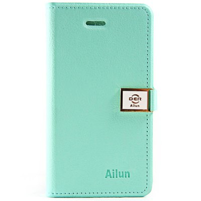 Hello Deere Ailun Series PU Leather + TPU Cover Case for iPhone 4 / 4S with Card Holder