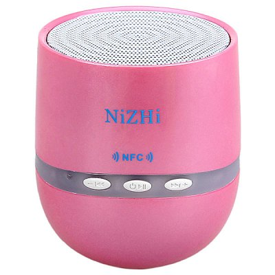 ФОТО NiZhi TT026 Mini Bluetooth Speaker Support Hands-free Call/Intelligent Voice/NFC Function with LED Flashing Light