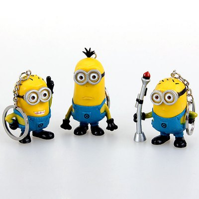 Гаджет   10Pcs Popular Anime The Minion Dave Feature PVC Figure Models Keyring Dolls & Action Figures