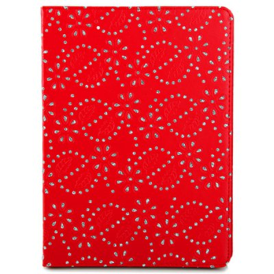 ФОТО Stylish Diamonds Court Flowers Pattern PU Leather and Plastic Case for iPad Air ( iPad 5 ) with Stand Function
