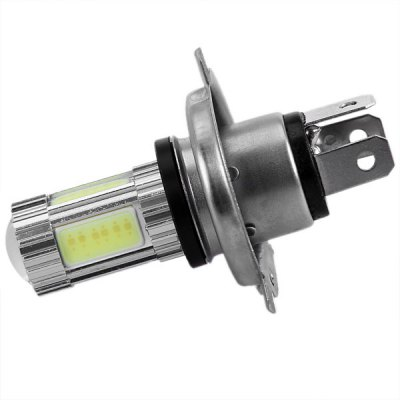 COB H4 25W 6500K 1700lm Optical Lens White Light LED Car and Motorcycle High Low Beam HeadlampCar Lights<br>COB H4 25W 6500K 1700lm Optical Lens White Light LED Car and Motorcycle High Low Beam Headlamp<br><br>Connector: H4<br>Chip type: COB<br>Emitting color : White<br>Voltage : 12V/DC<br>Power : 25<br>Type of lamp-house : LED<br>Apply lamp position : External Lights<br>Product weight   : 25 g<br>Package weight   : 0.080 kg<br>Product size (L x W x H)  : 7 x 5 x 5 cm<br>Package size (L x W x H)  : 15 x 10 x 6 cm<br>Package contents: 1 x LED Lamp