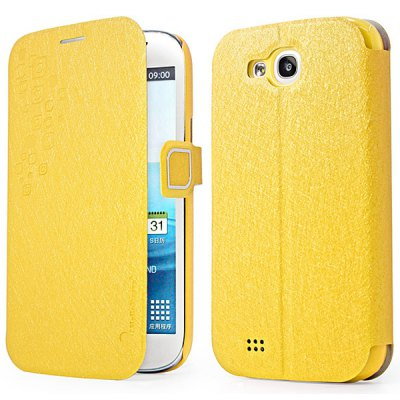 Hello Deere Feather Silk Series PU + PC Case for Samsung Galaxy Grand i9128