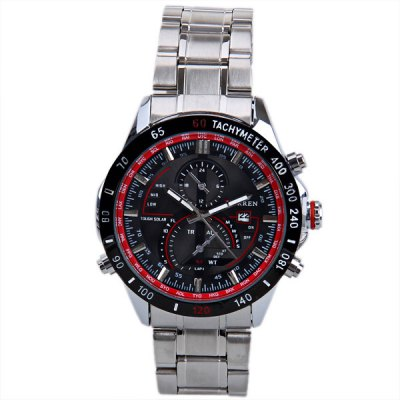 Гаджет   Curren 8149 Men Watch with Calendar and Two Small Decorating Hands Round Dial and Steel Band Men