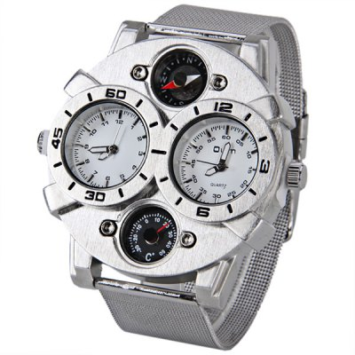 Oulm Brand Watch with Double - movtz Compass Decorating Design for MenMens Watches<br>Oulm Brand Watch with Double - movtz Compass Decorating Design for Men<br><br>Brand: Oulm<br>Watches categories: Male table<br>Watch style: Fashion<br>Available color: White<br>Movement type: Quartz watch<br>Shape of the dial: Round<br>Display type: Pointer<br>Case material: Metal<br>Case color: White<br>Band material: Steel<br>Clasp type: Pin buckle<br>Band color: Silver<br>Special features: Decorating compass, Decorating thermometer<br>The dial thickness: 1.2 cm<br>The dial diameter: 5.4 cm<br>Product weight: 0.114 kg<br>Package weight: 0.15 kg<br>Product size (L x W x H): 25.7 x 5.4 x 1.2 cm<br>Package size (L x W x H): 26.7 x 6.4 x 2.2 cm<br>Package Contents: 1 x Watch