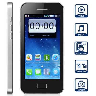 Unlocked 4.0 inch Quad Band Resistive Screen Dual SIM Cell phone with Bluetooth