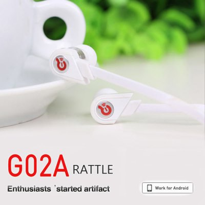 Syllable G02A Dynamic In-ear Earphone Flat Wide Line 3.5mm Noise Cancelling Headset with Microphone