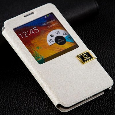 PU Leather D Button Cover Case for Samsung Galaxy Note 3 N9000 / N9002 / N9006 / N9008